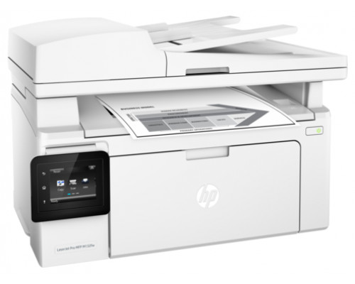 МФУ HP LaserJet Pro MFP M132fw RU, лазерный принтер/сканер/копир/факс A4, 22ppm, 1200dpi, 256 Mb, 1 tray 150, ADF 35 sheets, USB/LAN/Wi-Fi, Flatbed, Cartridge 1400 pages & USB cable 1m in box, 1y warr, замена CZ183A M127fw