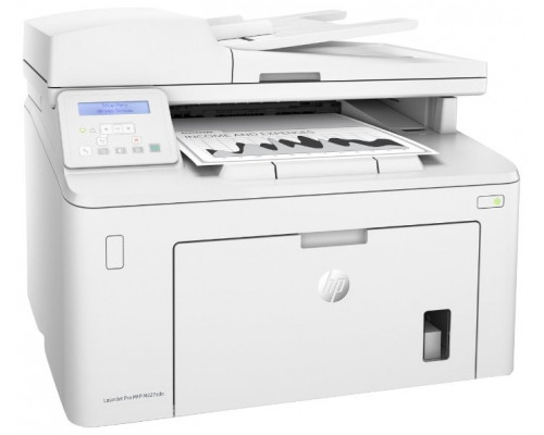 МФУ HP LaserJet Pro MFP M227sdn, лазерный принтер/сканер/копир, A4, 28ppm, 1200dpi, 256Mb, 2 trays 250+10, Duplex, ADF 35 sheets, USB/Eth, Flatbed, white, Cartridge 1600 pages in box, 1 warr, замена CF486A M225rdn